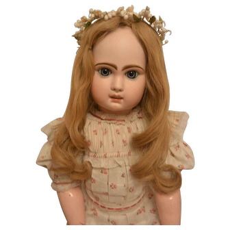 """Lovely Antique Auburn Human Hair Wig"""