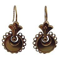 Victorian 15 ct gold earrings