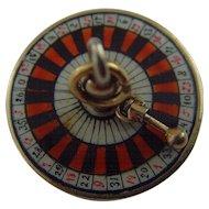 Victorian/Edwardian Silver-gilt Enamel Roulette Wheel charm