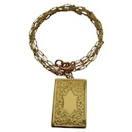 Vintage Chester hallmarked 9ct gold locket and chain