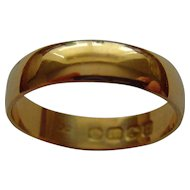 Vintage 18ct gold band