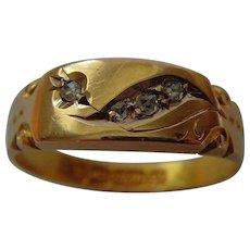 Victorian 15ct gold diamond ring