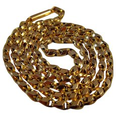 Victorian 9ct gold 18.1/4 inch fancy link chain