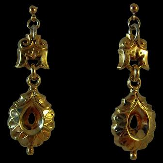Victorian pinchbeck drop earrings