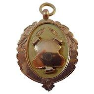 Vintage 9 cred t gold hallmarked for 1924 medallion /fob / medal