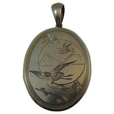 Victorian Aesthetic Movement Silver Locket