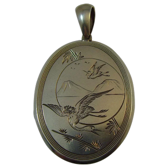 Victorian Aesthetic Movement Silver Locket