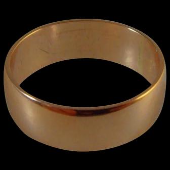 Vintage rose gold hallmarked for 1923 wedding ring