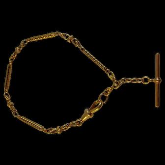 Antique 15 ct Gold Edwardian Albert/Bracelet