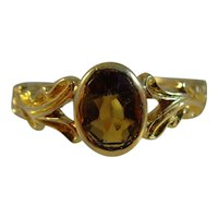 Antique Edwardian 18ct gold hallmarked for 1905 Topaz Ring