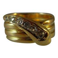 Antique Victorian Hallmarked 18 ct Gold Diamond Set Snake Ring