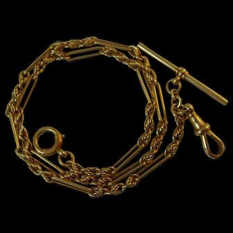 Vintage 9ct yellow gold hallmarked 1920s Albert/Necklace/Bracelet Chain