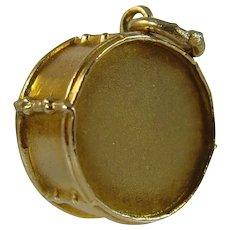 Antique Edwardian 9ct gold Drum charm