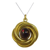 Antique mid Victorian 15ct gold Garnet locket pendant