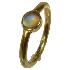 Vintage Moonstone 9ct gold ring