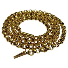 Antique Victorian yellow gold chain