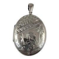 Antique Victorian Aesthetic movement silver locket