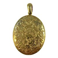 Antique Victorian solid 15ct gold large locket