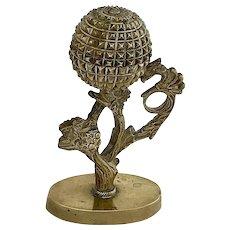 Brass Figural Ink Sander, Pounce Pot