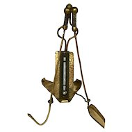 Brass Novelty Thermometer, Fireplace Tools
