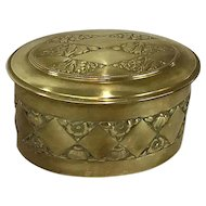 Erhard and Sohne German Art Deco Lg, Brass Box