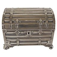 Silverplate Stylized Dome Trunk Box