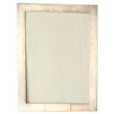 Lg. Hammered Sterling Silver Picture Frame, Wide Border