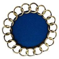 English Brass Ring Circle Picture Frame