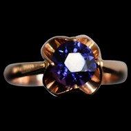 RARE Vintage Alexandrite Engagement Ring Vintage Art Deco Solitaire Alexandrite Ring Buttercup Alexandrite Ring Vintage Chameleon Stone Ring