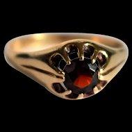 Vintage Rose Gold Garnet Solitaire Ring English Vintage January Birthstone Ring Vintage Garnet Ring Unisex Vintage Ring Mothers Day Gift
