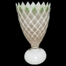 Belleek Feather Vase with Green Tips - 5th Mark Dated 1955 to 1965