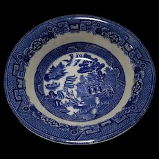 """Allerton's Blue Willow """"Smooth"""" Serving Vegetable Bowl"""