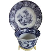 Mulberry Cup and Saucer in the SHAPOO Pattern