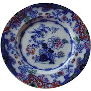 PolyChrome and Flow Blue Plate by Ridgway & Morley