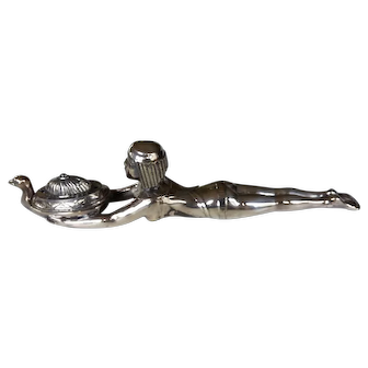 Silver-plated Egyptian Revival Incense Burner-1920s