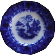 SCINDE Pattern Flow Blue Plate by Thomas Walker