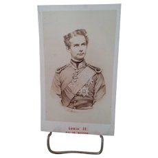 CDV Ludwig II of Bavaria c. 1860's