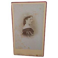 CDV Queen Henriette of Belgium, Wife Of King Leopold II