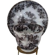Mulberry Handless Cup and Saucer in the HONG Pattern