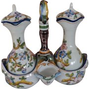 French Country Cruet Set for Vinegar and Oil