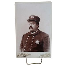 Cabinet Card of Chicago Police Officer, c. 1890