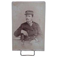 Cabinet Card Photograh of Uniformed Man-Bogardus Studio Photo