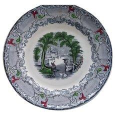 VENUS Tri-color Plate by Podmore Walker Co.