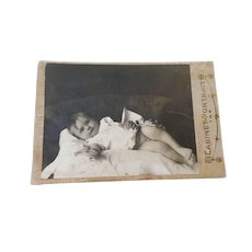 Cabinet Card Photograph of Baby