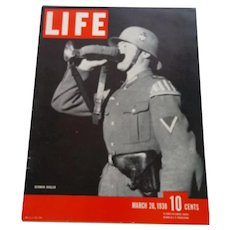 LIFE Magazine, March 28, 1938, German Bugler on the Cover