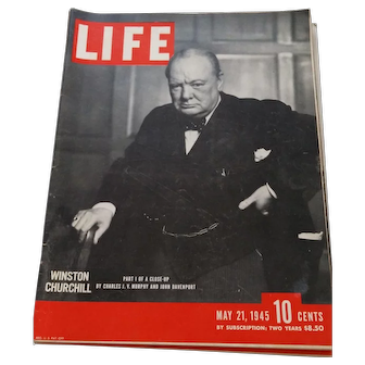 LIFE Magaine May 21, 1945-Churchill on the Cover