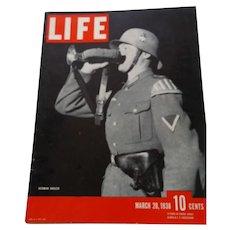 LIFE Magazine March 28, 1938 German Bugler