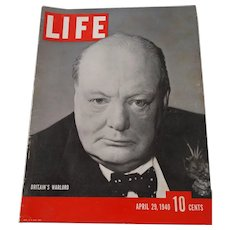 LIFE Magazine April 29, 1940, Winston Churchill on the Cover