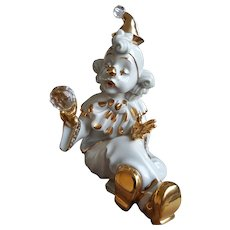 Collezione R.G. porcelain clown with Swarovski 1980s