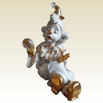 Collezione R.G. porcelain clown with Swarovski 1980s